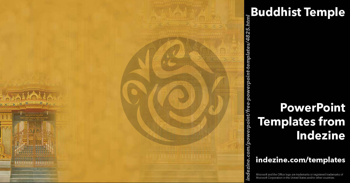 Buddhist Temple 02 - PowerPoint Templates