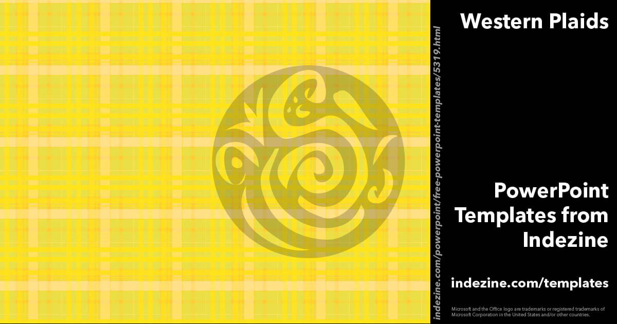Western Plaids 05 - PowerPoint Templates