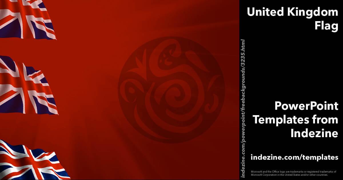 United Kingdom Flag 10 - PowerPoint Templates