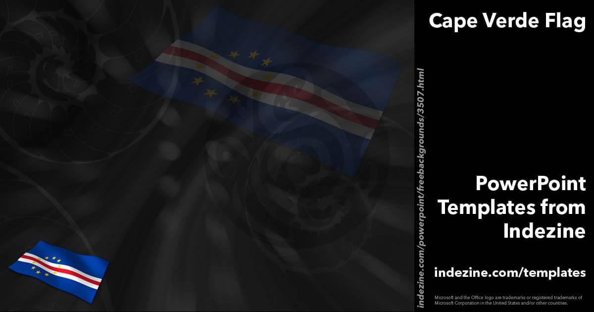Cape Verde Flag 01 - PowerPoint Templates