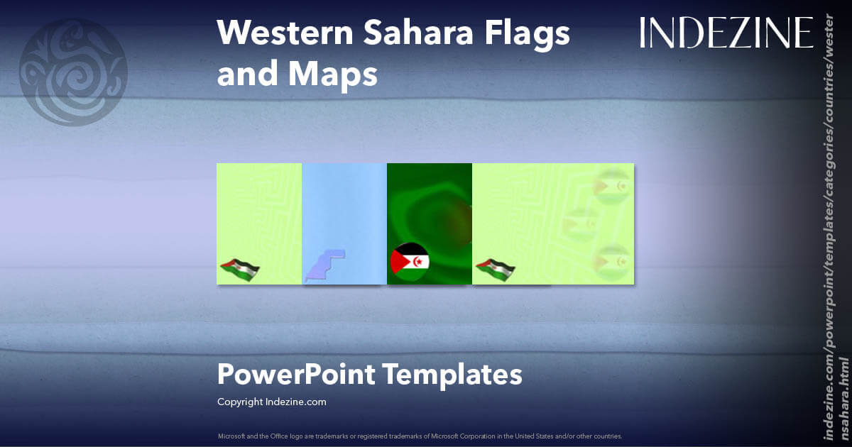 Western Sahara Flags and Maps PowerPoint Templates