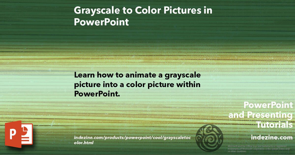 Grayscale to Color Pictures in PowerPoint