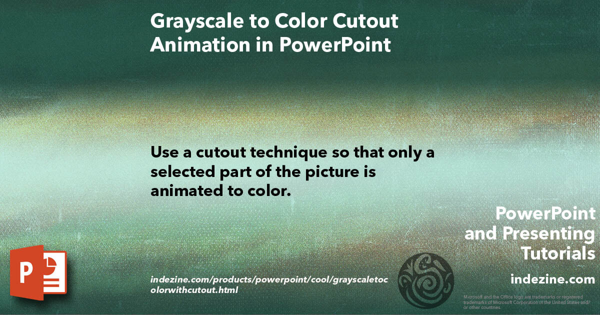 Grayscale to Color Cutout Animation in PowerPoint