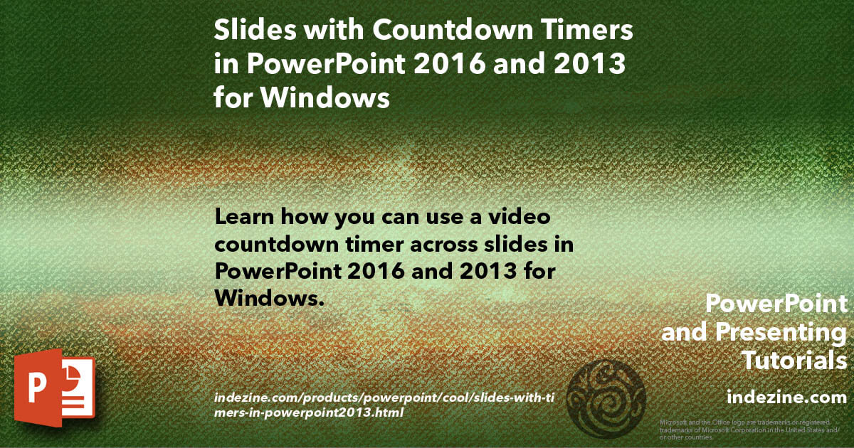 Slides with Countdown Timers in PowerPoint 2016 and 2013 for