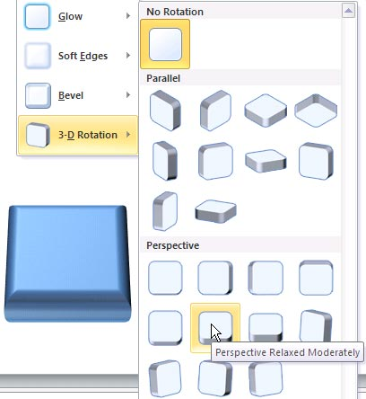 Apply 3-D Rotation Effects to Shapes in PowerPoint 2010 for Windows
