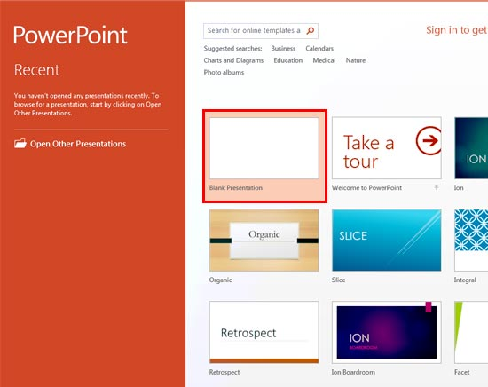 Set Standard 43 Aspect Ratio as Default in PowerPoint 2013 for Windows - ion powerpoint theme