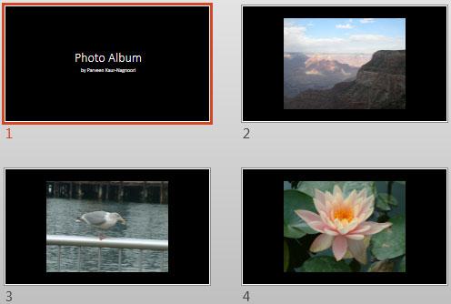 Apply Theme to Photo Album Presentations in PowerPoint 2013