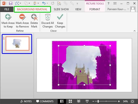Remove Background from Pictures in PowerPoint 2013 for Windows