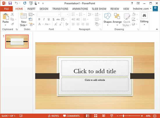 Super Themes in PowerPoint 2013 for Windows