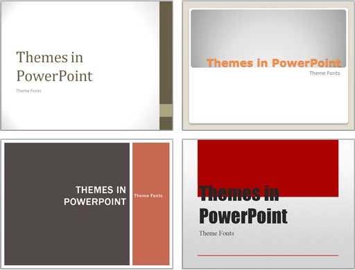 Theme Fonts in PowerPoint 2007 and 2010 PowerPoint Tutorials