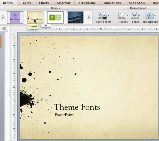 Theme Fonts in PowerPoint 2011 for Mac PowerPoint Tutorials
