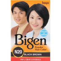 Bigen Permanent Powder Hair Color (Black Brown)