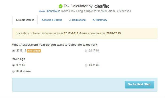 Income tax calculator 2017-18 Know your Income Tax Slabs, Rates - income tax calculator