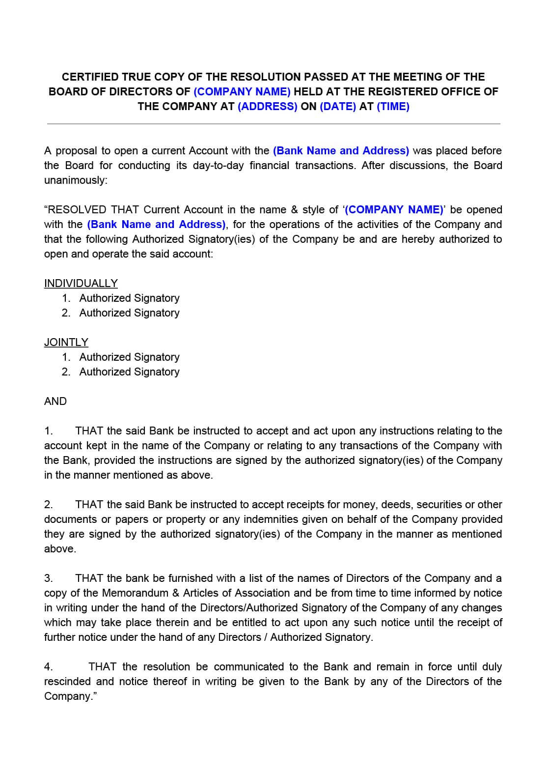 Sample Notarized Letter Regarding Payment Terms Between Sample Authorization Letter To Open Bank Account