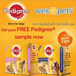 Pedigree Dog Food Free Sample worth Rs.100 by Wer4Pets