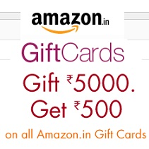 Amazon.in Gift Cards Offer