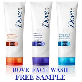 Dove Face Wash Free Sample