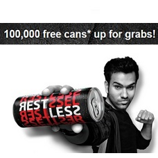 Restless Action Drink Free Cans