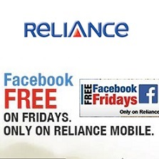 Reliance Free Facebook Fridays Offer for GSM Prepaid Users
