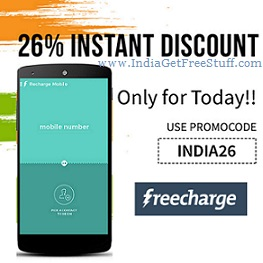 Freecharge Instant Discount Coupon Promo Code