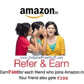 Amazon Refer and Earn Program Earn Rs.400 for each Invite Your Friend gets Rs.200