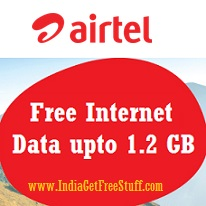 Airtel Free Internet Data upto 1.2 GB Download Apps