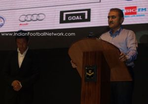 The AIFF president delivering his speech