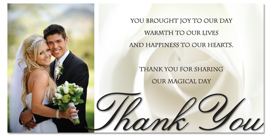 Images of What To Write In A Wedding Thank You Card Weddings Center – Thank You Card for Wedding