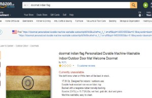 Angry Sushma asks Amazon to withdraw Tricolour themed doormats