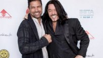 Manu Bennett, Kevon Stover at Beta Test Red Carpet in AMC Theatres