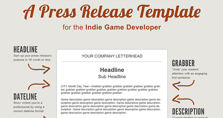 A Press Release Template Perfect for the Indie Game Developer - press release template