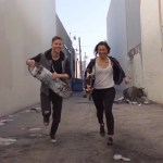 matt and kim - hoodie on