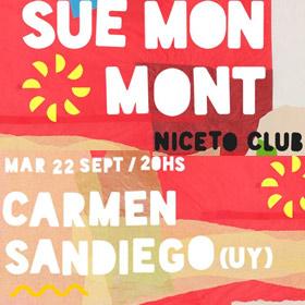 Sué Mon Mont y Carmen Sandiego en Niceto Club