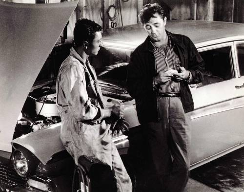 Editorial use only. No book cover usage. Mandatory Credit: Photo by United Artists/Kobal/Shutterstock (5873241b) Robert Mitchum, Jim Mitchum Thunder Road - 1958 Director: Arthur Ripley United Artists USA Scene Still Action/Adventure