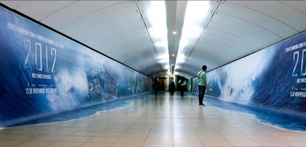 2012 - Creative Advertising Idea for a Poster in a Tunnel