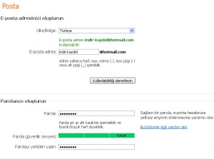 MSN Kayıt Formu