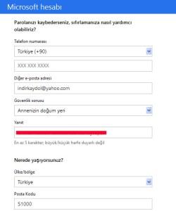 Hotmail Kayıt ol