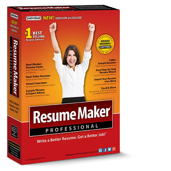 Write a Better Resume ResumeMaker Individual Software - resume maker software