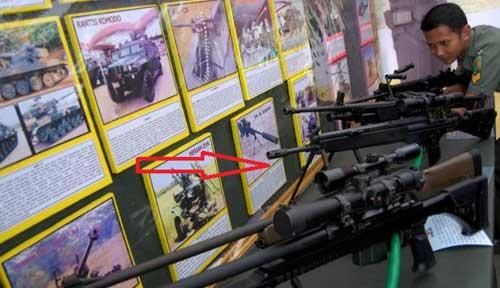 G3/SG-1 di perlihatkan dalam pameran alutsista TNI AD.