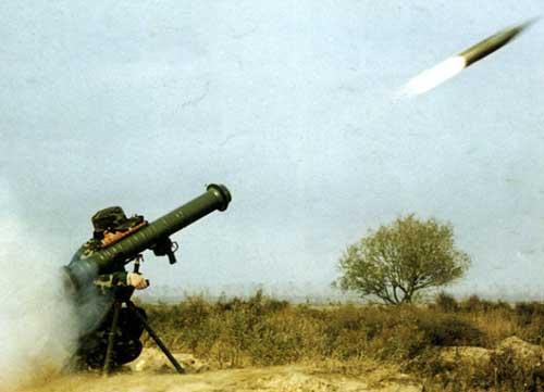 Dan roket pun telah lepas dari tabung peluncur.