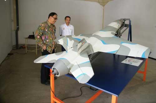 Petir dirancang dengan sirip tegak ala F-18 Hornet.