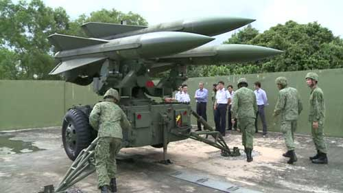 Rudal Hawk milik Singapura. Hawk cukup 'ditakuti' dalam jagad rudal hanud.