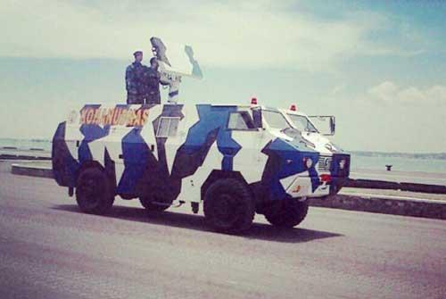 MLAAD-SR dalam defile HUT TNI Ke-69.