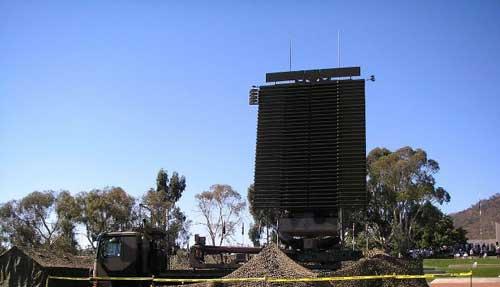 Radar AN/TPS-77 di platform truk.