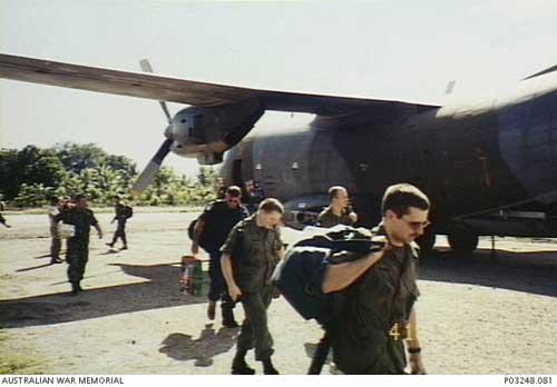 C-160 Transall AU Jerman dalam mendukung operasi INTERFET.