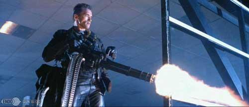 Beraksi dalam film Terminator 2.