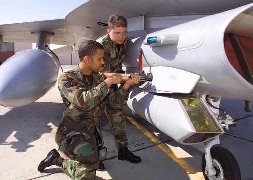 Instalasi Sniper ATP di F-16 Fighting Falcon.