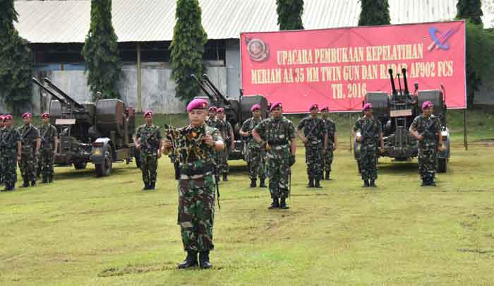 Instruktur Norinco Latih Awak Kanon Type 90/35mm dan Radar AF902 FCS Korps Marinir