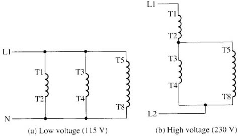 1 phase motor wiring diagram dual voltage