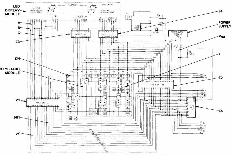 circuit diagram of scientific calculator